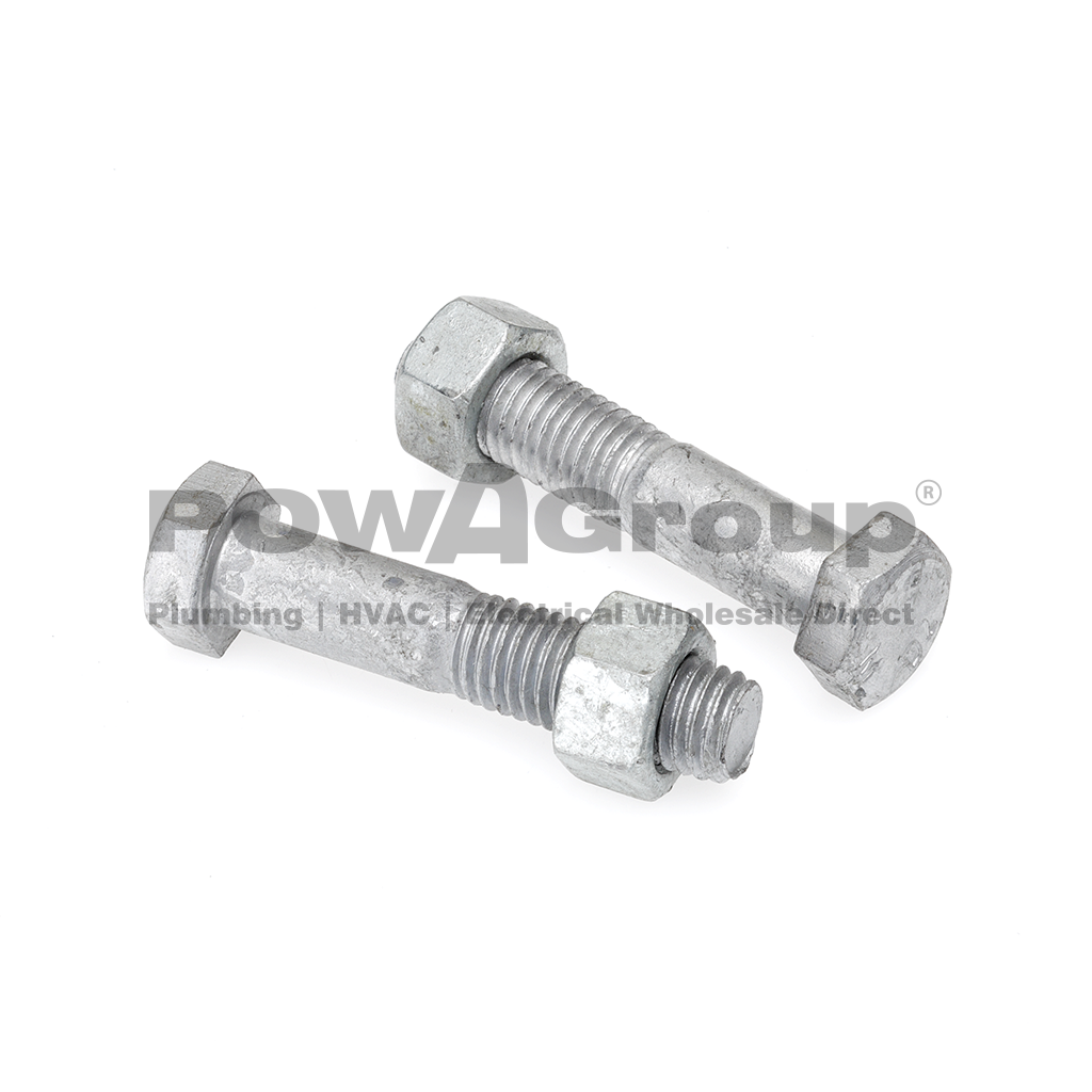 Bolt & Nut Hex 4.6 Gal 20mm x 130mm