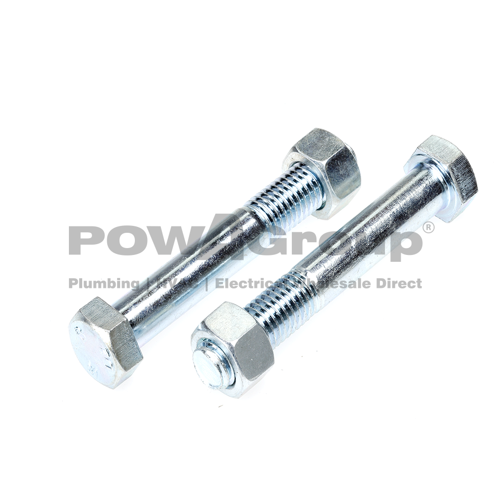 Bolt & Nut Hex 4.6 Z/P 10mm x 25mm