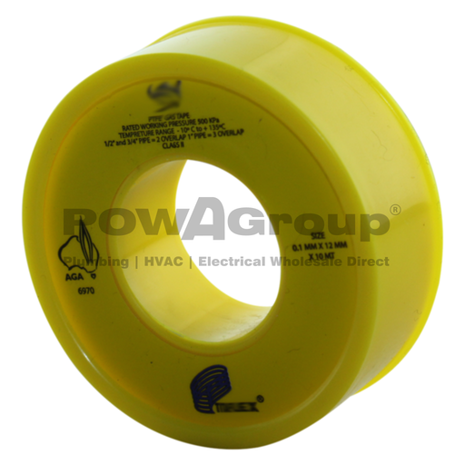 [06TTYELLOW] Yellow Gas Teflon Thread Tape 10m