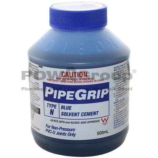 [06BGLUE500B] PVC Cement Blue Glue - Pipe Joining 500ml - With Brush Applicator