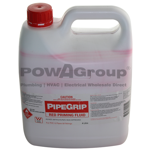 [06RPRIMEF4L] PVC Priming Fluid - Red - Pipe Joining 4L