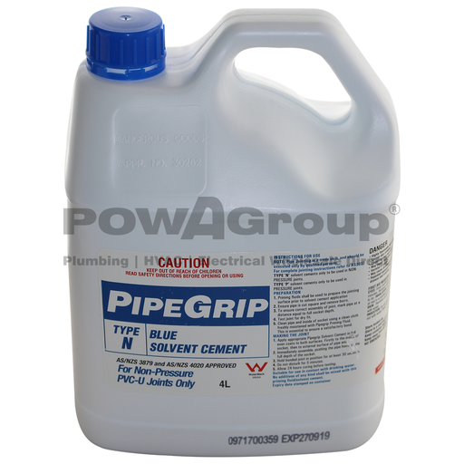 [06BGLUE4L] PVC Cement Blue Glue - Pipe Joining 4L