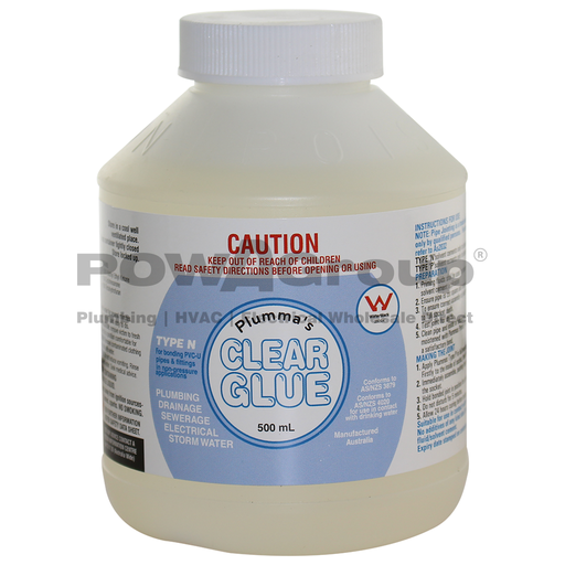 [06CG500B] PVC Cement Clear Glue - Pipe Joining 500ml - With Brush Applicator