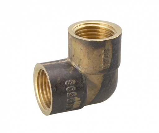 [26ELBOWFIXFI20BR] PowAPipe Brass Elbow Female Thread 3/4 (20mm) X Female Thread 3/4 (20mm)