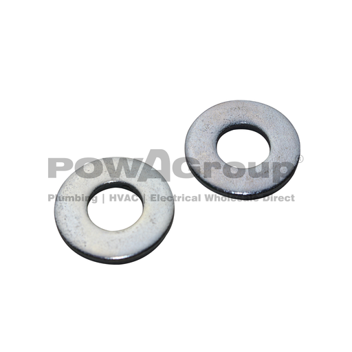 "[07AFWAS015] M10 Washer Flat Construction 4.6 Z/P (3/8"") ID 11mm x OD 23-24mm x 1.8-2.0mm"