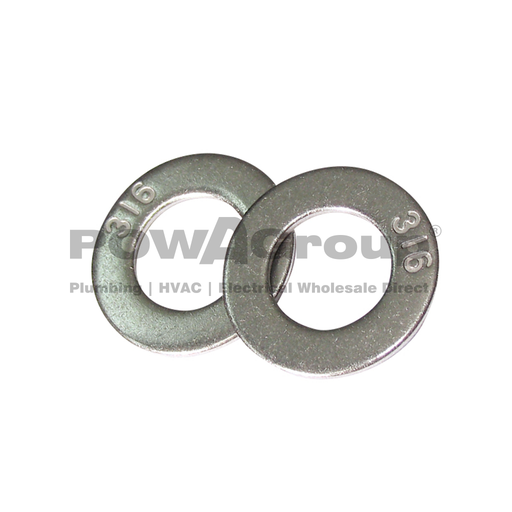 [07AFWAS025SS6] M10 Washer Flat 316 S/S