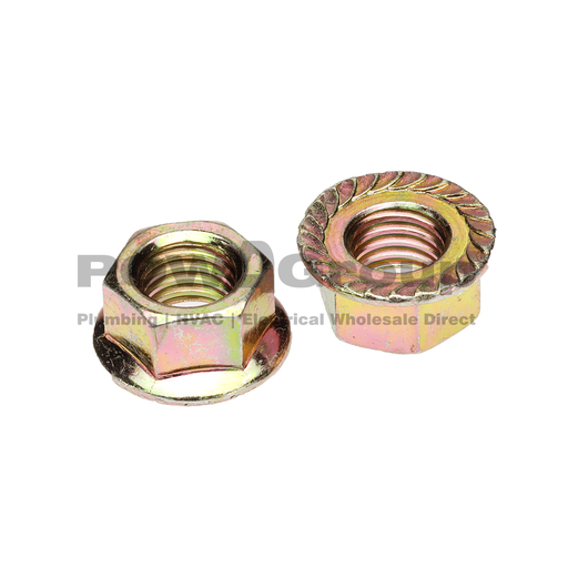 [07HNM06F] M6 Nut Flange Serrated 8.8 Z/P