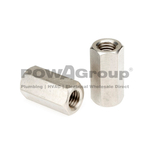 [07HCZ10] Coupler Hex Nut Z/P M10 - Threaded Rod Joiner