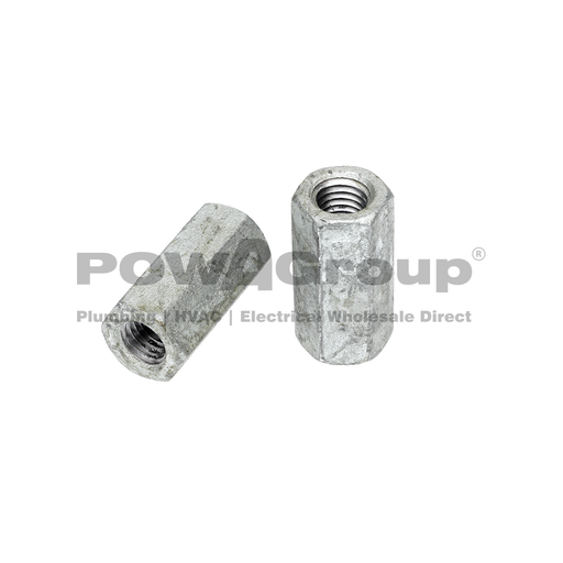 [07HCG12] Coupler Hex Nut Hot Dipped Galvanised M12