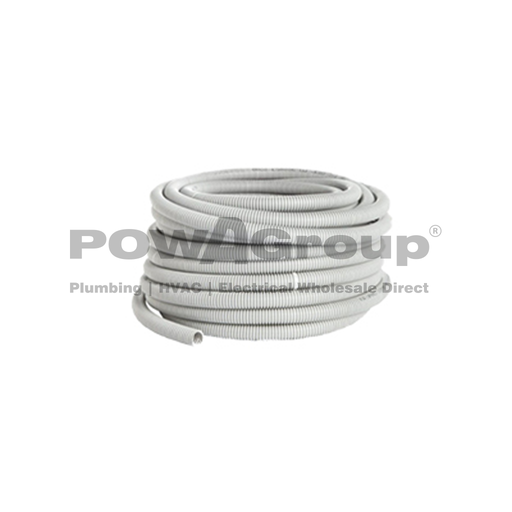 [08CCRG3225] Conduit Corrugated POWACITY Flexible 32mm x 25 mtr Roll Grey Medium Duty (Suitable for 16/20mm Pex)