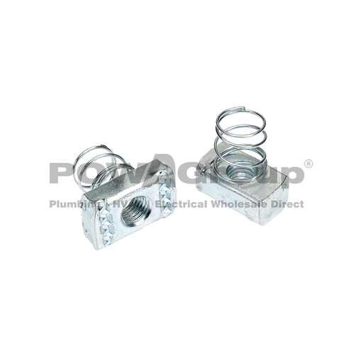 [09SPRNSM12] Spring Nut Short M12 Z/P - Suit 41mm x 21mm Strut
