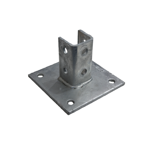 [09BASEPLATE150] Base Plate 150mm x 150mm x 100mm Hot Dipped Galvanised