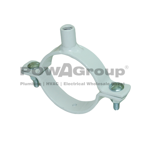 [10WNCPVC225M10] Welded Nut Clamp PVC 225mm (250mmOD) M10 White Powder Coated