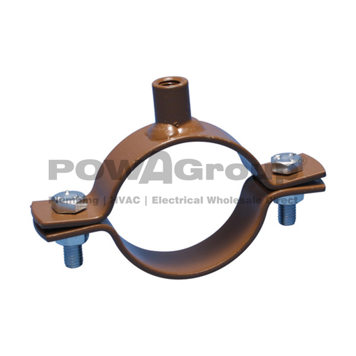 [10WNCCU150] Welded Nut Clamp COPPER 150mm (152.4mm OD) Brown Powder Coated