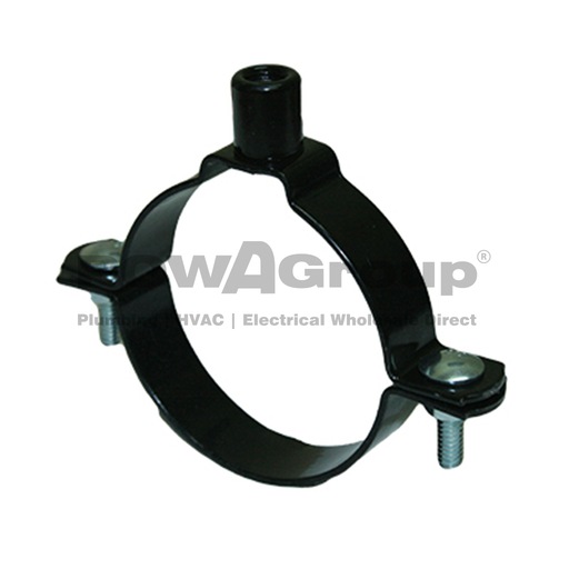 [10WNCHDPE150] Welded Nut Clamp HDPE 150mm  (160.0mm OD) Black Powder Coated M12