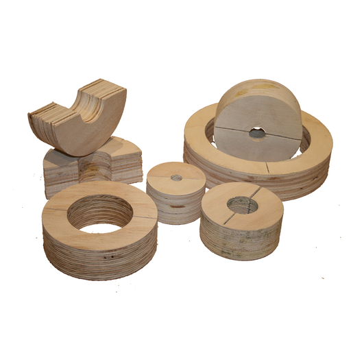 [10BUTFR042] Timber Ferrule 76mm(Cu) ID x 25mm Insulation = 126mm OD
