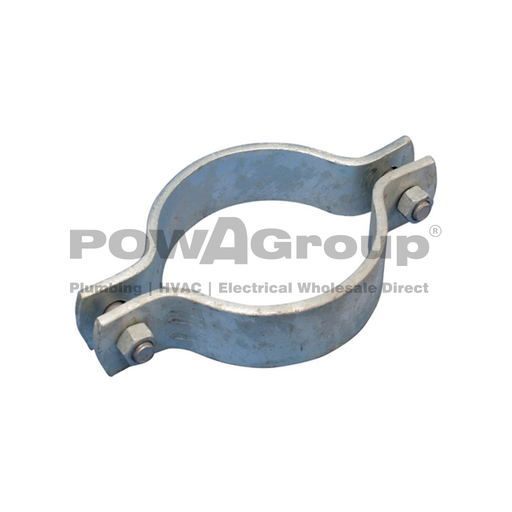 [10DBGAL100] Double Bolted Clamp 100NB (114.3mmOD) GAL FINISH  Light Duty