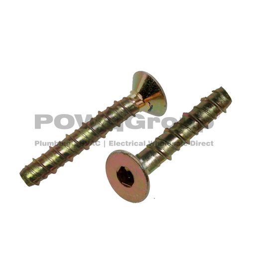 [02ARCSB004] Screw-in Bolt CSK Head Concrete Anchor Z/P  6.5mm x 75mm