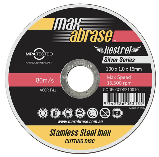 [13AACOD002] Metal Cut-Off Disc 100 x 2.5 Thick x 16mm (not Ultra thin)