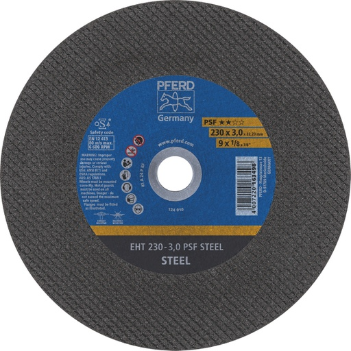 [13AACOD010T32] Metal Cut-Off Disc EXTRA 230mm x 3mm Thick  x 22mm PFERD