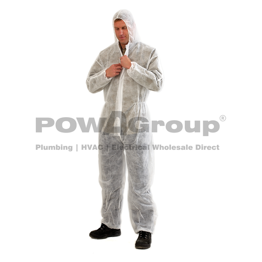 [14DOVERWL] Disposable Overalls White - Large