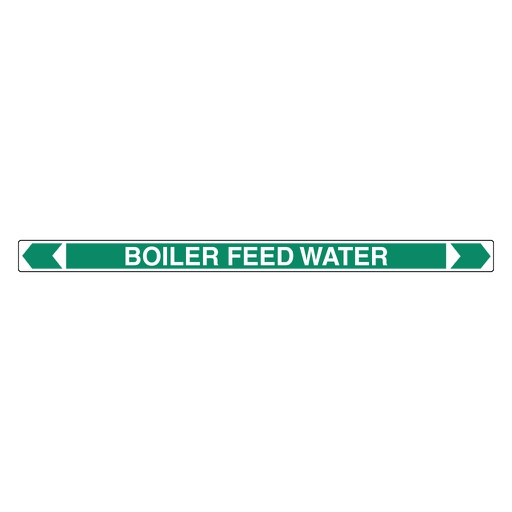 [22AFPMK002] Pipe Marker - Boiler Feed Water 25mm x 380mm(G)
