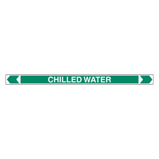[22AFPMK004] Pipe Marker ;- Chilled Water 25mm x 380mm(G)