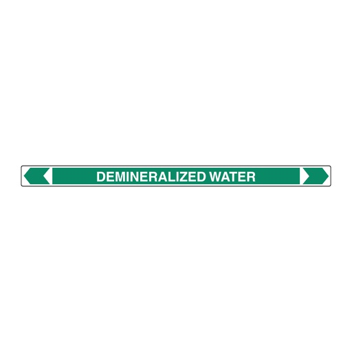 [22AFPMK018] Pipe Marker ;- Demineralized Water 25mm x 380mm (G)