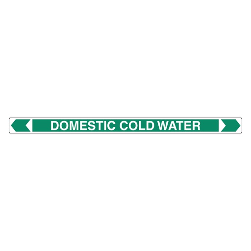 [22AFPMK022] Pipe Marker ;- Domestic Cold Water 25mm x 380mm(G)