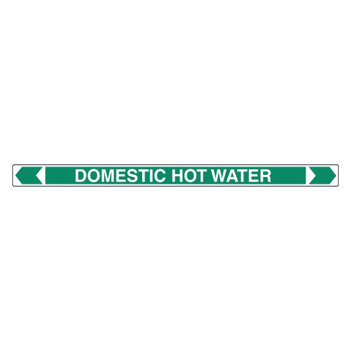 [22AFPMK024] Pipe Marker ;- Domestic Hot Water 25mm x 380mm(G)