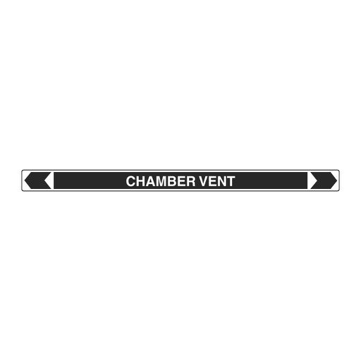 [22AFPMK081] Pipe Marker ;- Chamber Vent 25mm x 380mm (B)