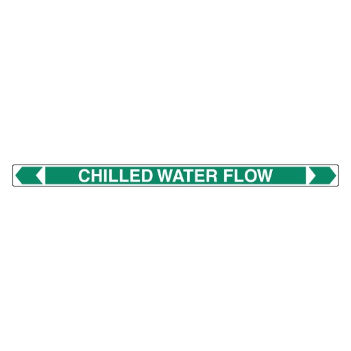 [22AFPMK112] Pipe Marker ;- Chilled Water Flow 25mm x 380mm(G)