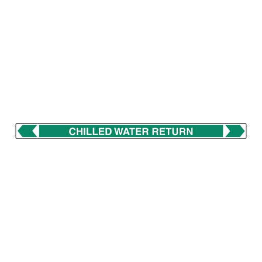[22AFPMK114] Pipe Marker ;- Chilled Water Return 25mm x 380mm(G)
