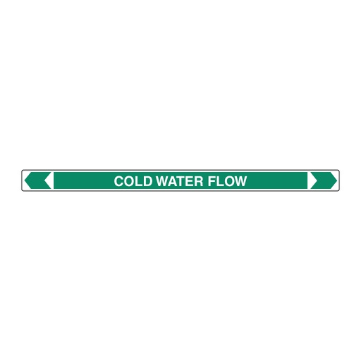 [22AFPMK116] Pipe Marker ;- Cold Water Flow 25mm x 380mm(G)