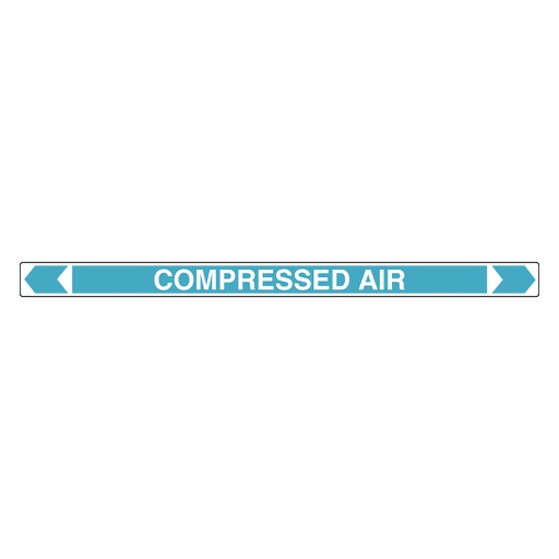 [22AFPMK602] Pipe Marker ;- Compressed Air 25mm x 380mm (Light Blue)