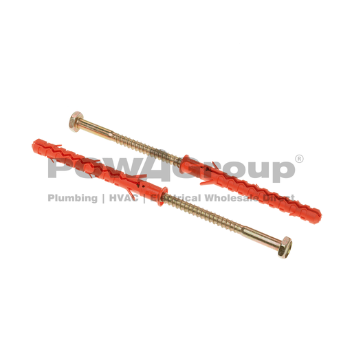 [01AESHM003] Mungo Frame Fixing Long Plug - Hex Head 10mm x 100mm