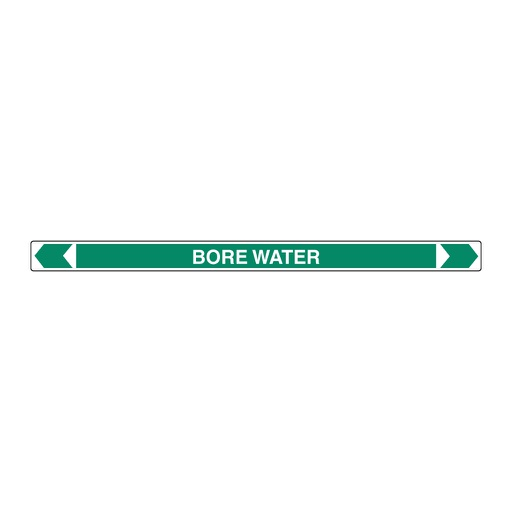 [22AFPMKSP4] Pipe Marker ;- Bore Water (Green) 25mm x 380mm