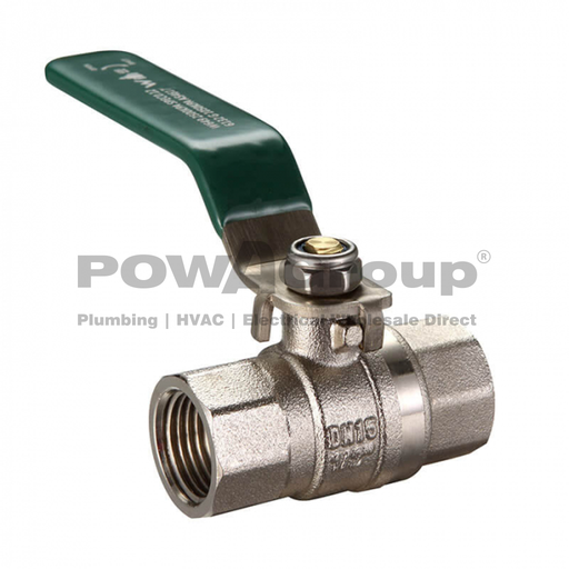 [26VALBAL15L] Ball Valve 15mm (FI x FI) DR Brass - Suitable for Gas & Water