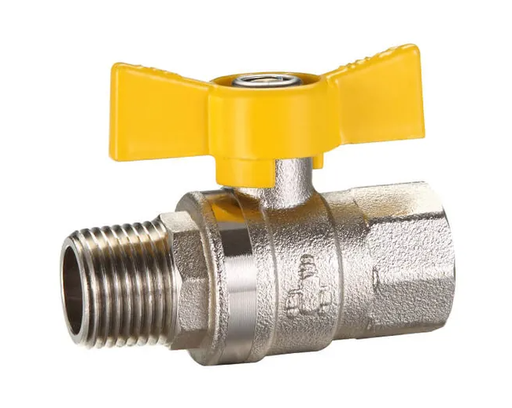 [26VALBAL20BMF] Ball Valve 20mm (MI x FI) Butterfly Handle - DR Brass - Suitable for Gas & Water