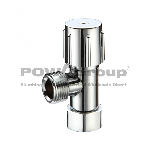 [26VALMIND12A] PowaValve Deluxe Valve Type Mini Cistern Cock with Loose Nut 15mm with Double O-Ring (SD15SNC)