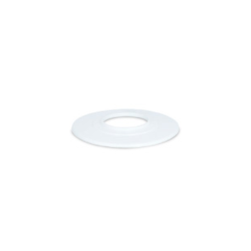 [27COVT150DW] Vanity Flange Flat 50mm - White PVC Cover Plate