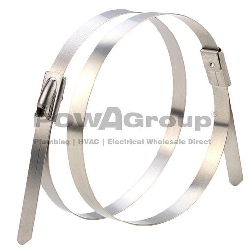 [08CT120076SS] Cable Tie 316 S/Steel 1200mm x 7.6mm