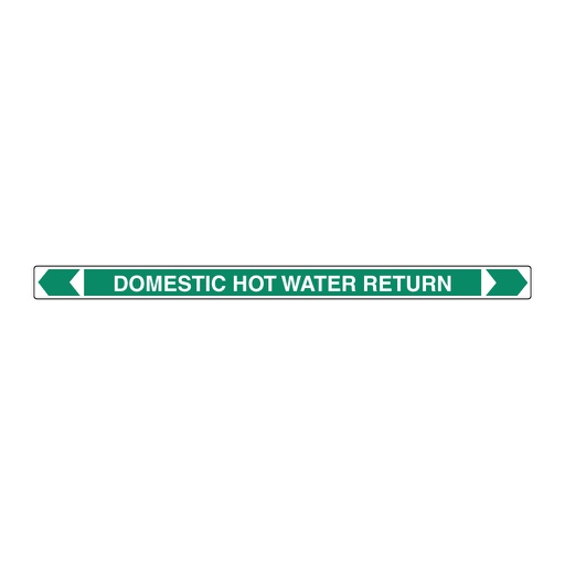 [22AFPMK024R] Pipe Marker ;- Domestic Hot Water Return 25mm x 380mm(G)