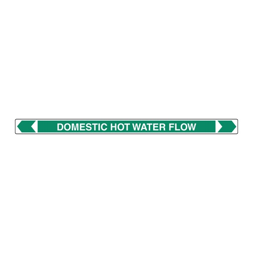 [22AFPMK024F] Pipe Marker, Domestic Hot Water Flow 25mm x 380mm(G)